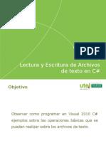 Open Class Lectura y Escritura de Archivos L Coronado