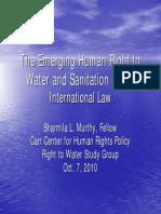 Water Sanitation Human Right Powerpoint_meeting1_20101007
