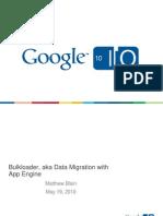 App Engine Data Migration