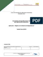 Especificaciones Técnicas Aplicación para la TDA