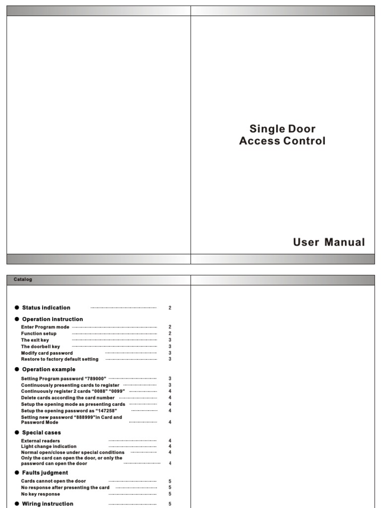 Acm207h User Manual Traffic Light Access Control
