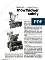 Snowthrower Safety