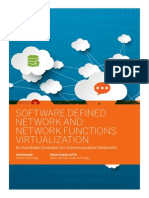SOFTWARE DEFINED NETWORK AND NETWORK FUNCTIONS VIRTUALIZATION