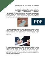 Formas de Vencimiento de La Letra de Cambio Guatemala