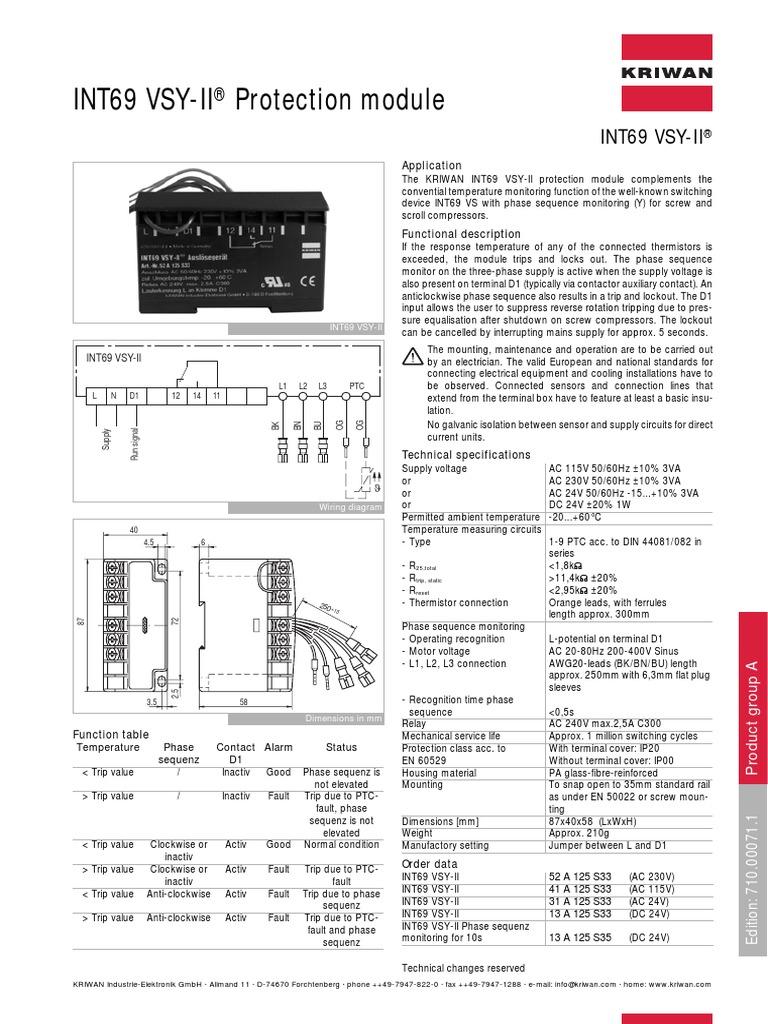 Int69 Vsy-Ii Protection module