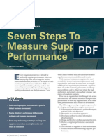 Measure Supplier Performance