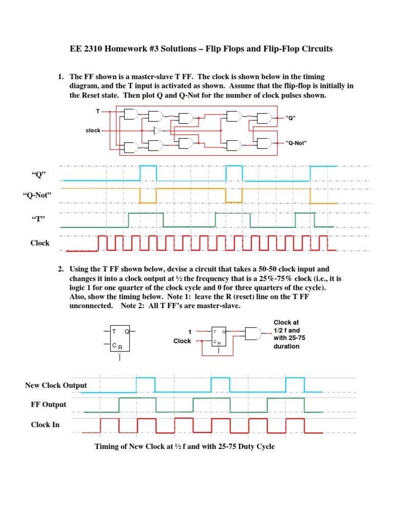 Ee2310 Hw3 Sol Electrical Circuits Electronic Design T Flip Flop Circuit Diagram