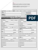 Mortgage Application Form Example