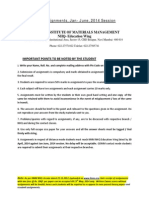 Assignments Jan June 2014