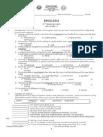 English G-7 2nd Grading Exam