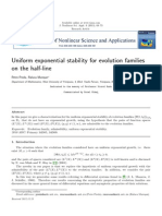 Uniform Exponential Stability for evolution families