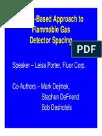 Flammable Gas Detetctor Spacing