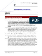 Risk Assessment Questionnaire Template