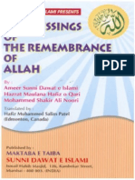 Blessings of Remembrance of Allah