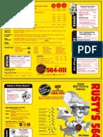 Rustys Pizza Santa Barbara Menu