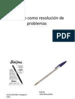 El diseño como resolución de problemas