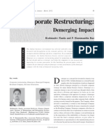 Corporate Restructuring -Demerging Impact