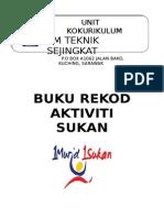 Cover Page Buku Rekod Aktiviti Majlis Sukan