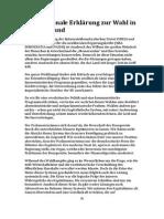 Internationale Erklärung zur Wahl in Griechenland