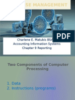 Report in Accounting Information System