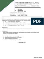 Soal Biostat Gasal 14-15 Rajawali Keperawatan UAS [Take Home]
