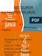 This and Super Keyword in Java
