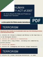 Ra 9372 Human Security Act of 2007 1