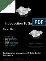 Introduction to SaltStack