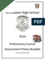 Prelim Assess Booklet Girra