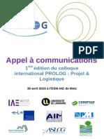 Appel a Communications PROLOG Metz
