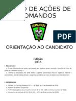 Orientação Ao Candidato - CAC 2015