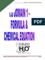 1 Chemical Equation