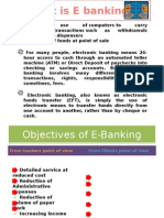 What is E Banking