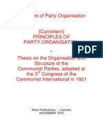 Principles of Party Organisation - Comintern - 1921