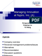 managing innovation at nypro case analysis Essays & papers managing managing innovation at nypro need essay sample on managing innovation at nypro accounting advertising analysis business.