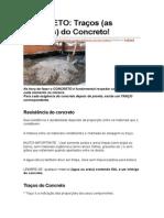 traço de concreto