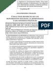Cinco Tesis Respecto de Los Movimientos Sociales, La Democracia y Los Sistemas Politicos