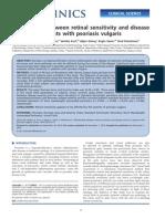 Relationship between retinal sensitivity and disease activity in patients with psoriasis vulgaris.