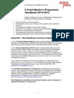 MUSIC Guildhall Artist Handbook 2014-15