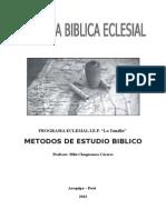 Apuntes sobre Métodos Bíblicos