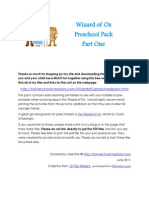 Wizard of Oz Preschool Pack Part 1
