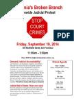 Judicial Council Protest - Center for Judicial Excellence Stop Court Crimes Campaign - Sacramento Superior Court - Supreme Court of California - Judicial Council of California San Francisco - Judicial Accountability Protest Agenda