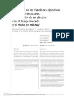 Desarrollo de Las Funciones Ejecutivas en Niños Preescolares