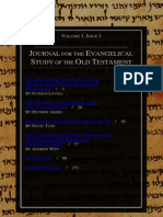 Journal for the Evangelical Study of the Old Testament