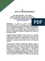 EVIDENCE-BASED MEDICINE (EBM)  &  CONCEPT OF INFINITESIMALS