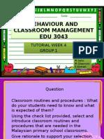 Behaviour and Classroom Management