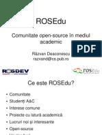 ROSEdu @ ROSDev 2008 - Prezentare