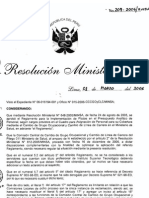 """Resolución Ministerial-209-2006-Cambio de Grupo Ocupacional-Tecnicos egresados de un IST a SP""""E"""""""