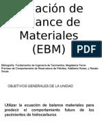 Ecuacion de Balance Materiales