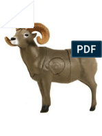 Target 11 - Horned Sheep Paper Targets (A3)